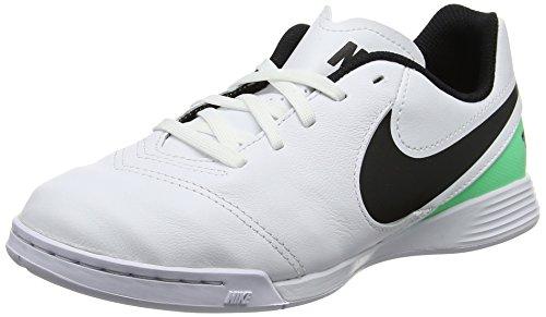 Nike Unisex Jr Tiempox Legend VI IC Fußballschuhe, Mehrfarbig (White/Black-Electro Green), 38 EU