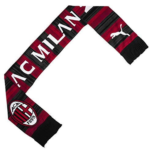 PUMA Schal AC Milan Fan, Tango Red/Puma Black, One Size, 53546