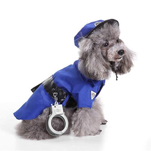 Ulalaza Halloween huisdier hond kostuums politieman gevangenis pak clown stijl puppy kleding huisdier benodigdheden, S, Stijl1