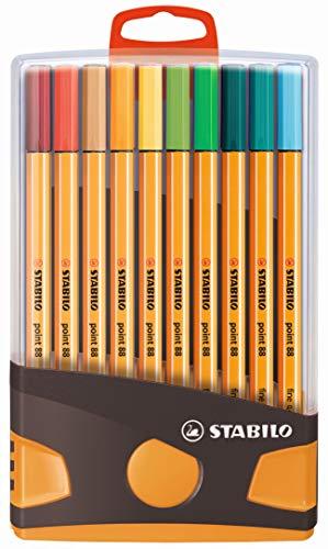 Fineliner STABILO Point 88 Colorparade 20 colori assortiti con dispositivo per appendere