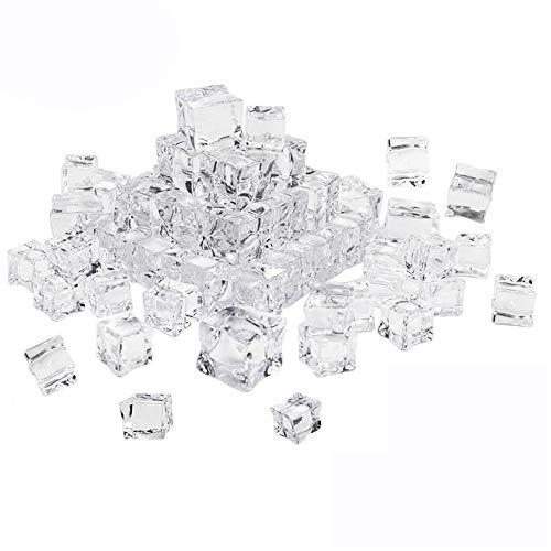 50st kunstmatige acryl ijsblokjes levensechte vierkante transparante nep ijsblokjes voor reclamefotografie…