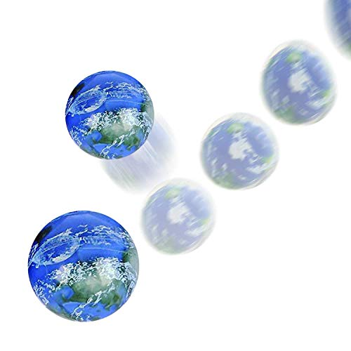 Kicko Earth Ball - 6 Pack - 49 mm - Bouncy Ball - for Party Favors, Supplies, Holidays, Stocking Stuffer, Prizes, Rewards, Classrooms, Stress Relief, Outdoor Play