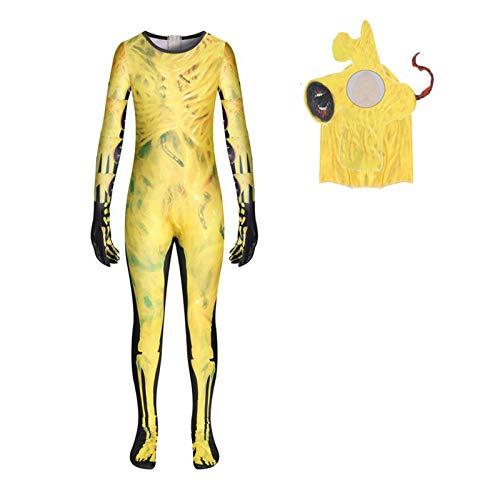 Bingchuan Disfraz de Cosplay de Cabeza de Sirena Mono de Monstruo con Cabeza de Sirena Disfraz de Mono de Terror para niños para Fiesta de Navidad de Halloween