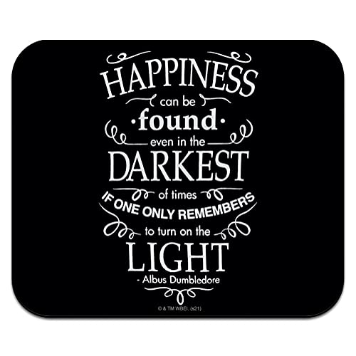 Harry Potter Happiness Quote Low Profile Thin Mouse Pad Mousepad