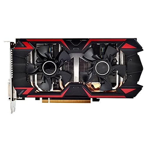 WERTYU Tarjetas gráficas R9 380 4GB GPU Fit for AMD Radeon R9-380 R9380 Tarjeta de Video Mapa de Juegos de computadora 1792SP 980Mhz Mainstream Usado