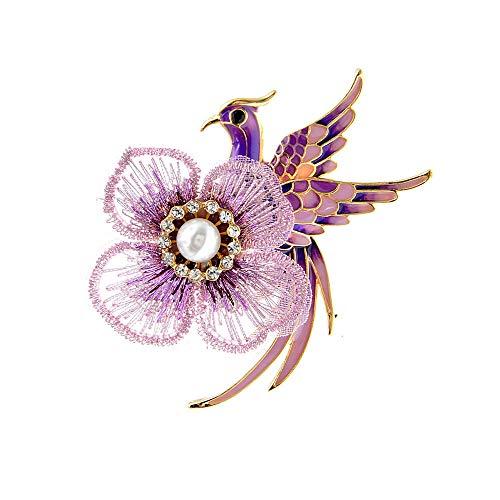 GLKHM Women's Brooch Brooches Women Enamel Pin Peacock Fashion Brooch Accessories