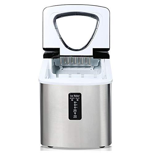 SHANG Kleine Eismaschine, Eismaschine aus Edelstahl 3,2 l / 110 w / 6 min Schnelle Eismaschine / 24 h Eismaschine 18 kg (55 lbs) 3 Arten Eiswürfeln Wählen eine handelsübliche Eismaschine