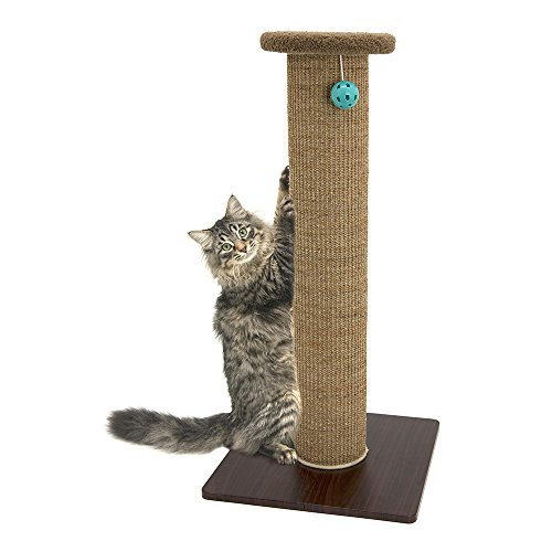 Kitty City Premium 32 inch Tall Woven Sisal Carpet Cat Scratching Post, Cat...