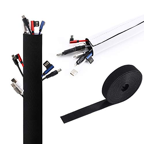 VoJoPi Organizador Cables, 300cm Flexible Funda Cubre Cables