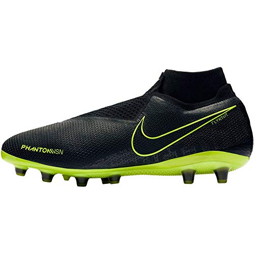 Nike Phantom Vision Elite Dynamic Fit AG-Pro, Botas de fútbol Unisex Adulto, Multicolor (Black/Black/Volt 7), 44.5 EU