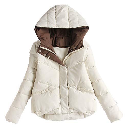 N\P Abrigo corto de algodón acolchado para mujer invierno ropa de algodón