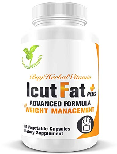 IcutFat Plus-clinically Proven Supplement with Powerful Weight Management Ingredients(60 Vegan Capsules, Sinetrol®, Guarana Extract, L-Carnitine, Mango Seed Extract, Green Tea Extract)