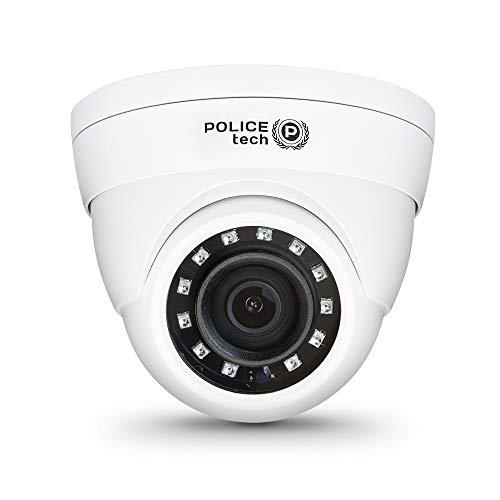Policetech - Cámara de vigilancia exterior de 2 MP, cámara de vigilancia doméstica, visión nocturna IR de hasta 30 metros, tecnología 4 en 1, IP67