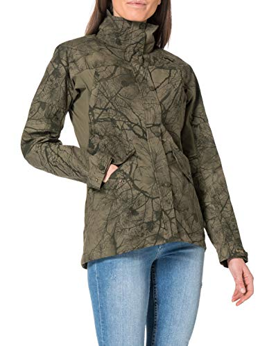 Fjällräven Womens Forest Hybrid Jacket W, Green Camo-Laurel Green, M