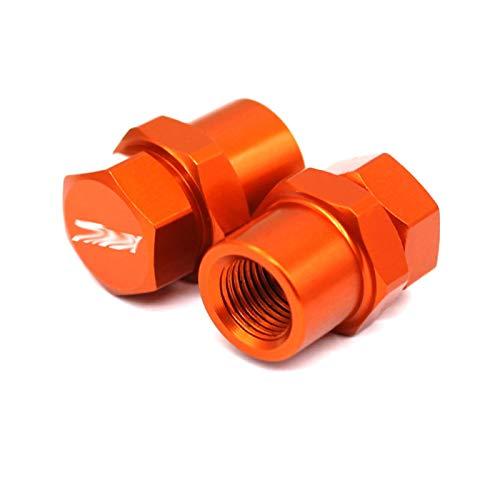 JINBINB / Ajuste para Yamaha Tmax 500 530 SX/DX TMAX 560 TMAX530 / 500/560 Motorcycle CNC CNC Válvula de neumático de la Rueda de Aluminio Tapas de vástago Cubiertas herméticas (Color : Orange)