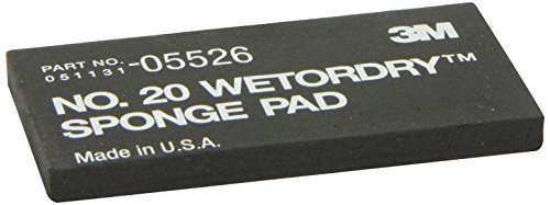 3M Wetordry Sponge Pad 20, 05526, 5 1/2 x 2-3/4 in x 3/8 in