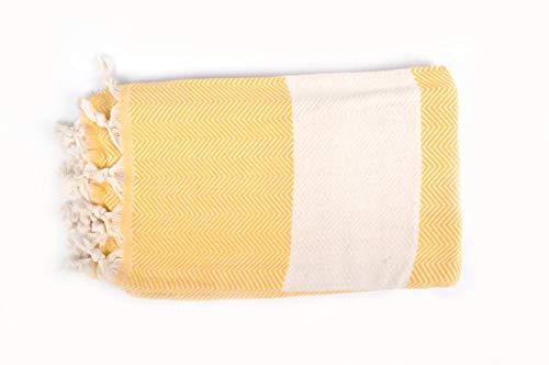 Bonamaison 100% algodón Toalla hammam Fina turca, Pesthemal, Toallas de baño, Toallas de Playa, 97 X 160 Cm - Fabricado en Turquía