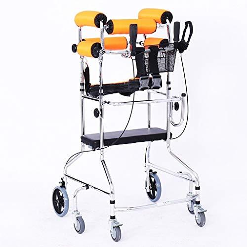 Wyp-wyp001 Opvouwbare vierwielige rollator met gevoerde stoel, afsluitbare rem, ergonomische handgreep en draagtas