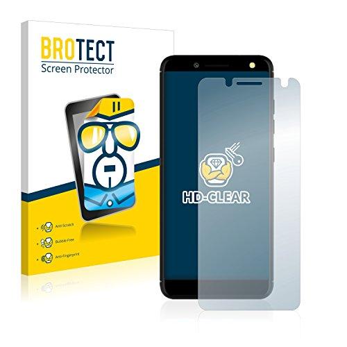 BROTECT Schutzfolie kompatibel mit BLU Vivo One (2 Stück) klare Bildschirmschutz-Folie