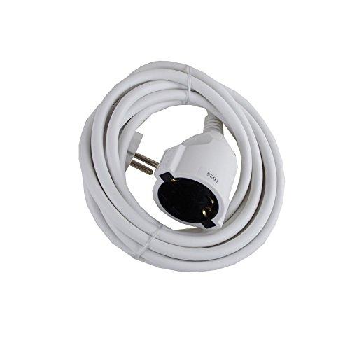 Rallonge 3 m Câble Rouleau 10 m câble d'alimentation elektrokabel Câble Blanc 5 m, 3.0m