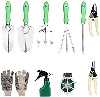 Queta kit d'outil de jardinage, Ensemble d'outils multifonctionnels pour pelle de jardin et râteau, outil de plantation pa...