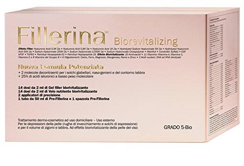Labo FILLERINA biorevitalizing nouvelle formule renforcée pre-fillerina + Filler Gel + foulard nutriments mesure Bio 3