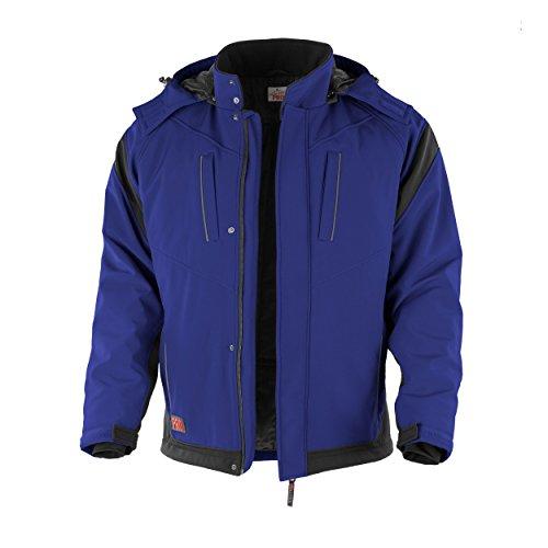 Qualitex, giacca Pro Softshell con colletto interno in pile, colori assortiti blu/nero XXXXX-Large