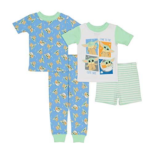 STAR WARS Boys' 4-Piece Cotton Pajama Set, Cute Child, 2T