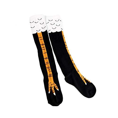 Strümpfe Damen Hühnerfüße Socken , Frauen-Mädchen-lustige Hühnerbein-kniehohe Neuheit Trifft Lustige Geschenke Hart