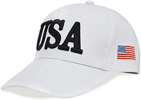 DISHIXIAO USA Baseball Cap Polo Style Adjustable Embroidered Dad Hat American Flag for Men and product image