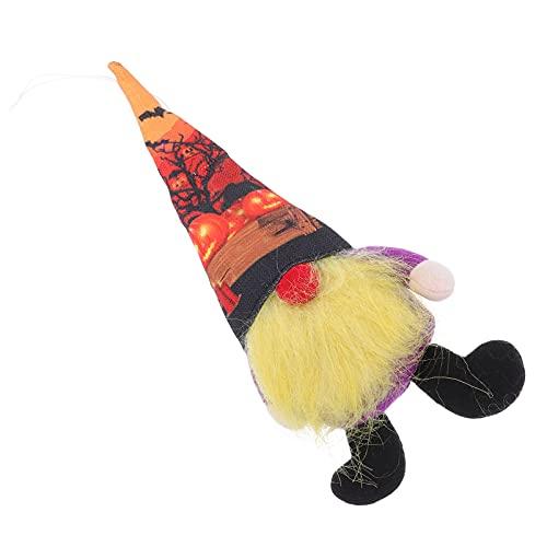YARNOW 1 Pza Adorable Muñeca de Gnomo de Halloween Tienda de Muñecas de Gnomos de Ventana Decoración