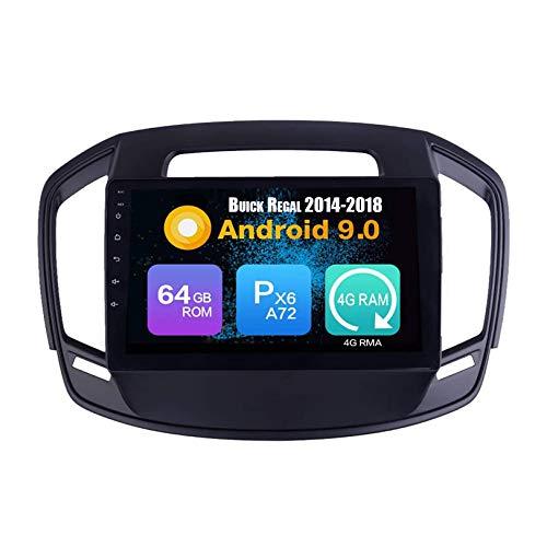 JIBO Android 10 Coche Estéreo Radio GPS Navegación Cabeza Unidad HD IPS Toque Pantalla Sat Nav Bluetooth DSP SWC para Regal 2014-2018 Multimedia Jugador Vídeo Receptor