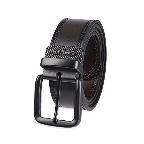 Levi's – Cinturón de jean reversible para hombre, Black/Brown Casual, 34
