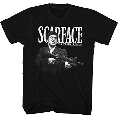 2Bhip Scarface The World is Yours Crime Movie Al Pacino Tony Montana Adult...