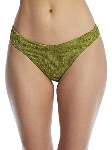 Miss Mandalay Honey Hi-Cut Bikini Bottom, M, Moss