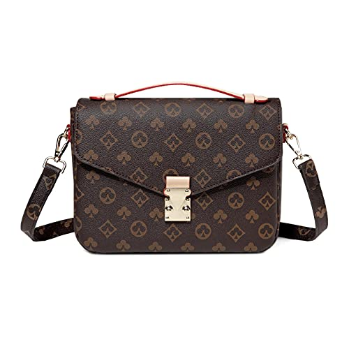 Crossbody Handbags for Women WOQED Shoulder Tote Fashionable Bag Leather Classic Clutch Purse with Adjustable Strap