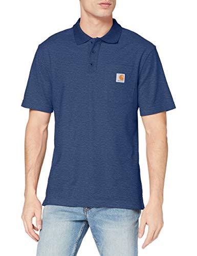 Carhartt Herren Contractors Work Pocket Original Fit K570 Polo Shirt, Dark Cobalt Blue Heather, L EU