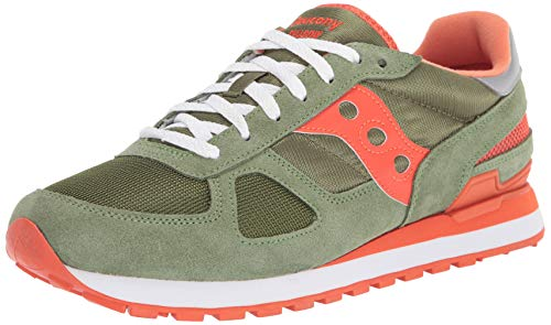 Saucony Originals Herren Shadow Original Turnschuh, grün/orange, 45.5 EU