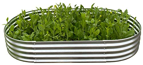 Oval Metal Raised Garden Bed Planter 78quotx47quotx12quot
