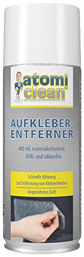 AtomiClean Etikettenlöser: Aufkleber-Entferner, materialschonend, AOX- und silikonfrei, 400 ml (Klebereste Entferner Auto)