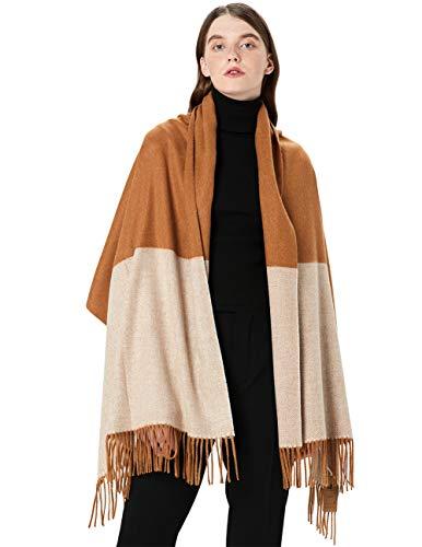 STORY OF SHANGHAI Damen schal cashmere klassische streifen-pashmina gefühl quaste-schal-winter-warme scarveswraps qb-7 einheitsgröße