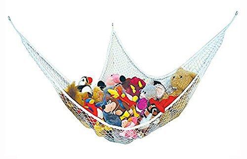 Lsv-8 Grande Amaca per Peluche Teddy Keep Baby/Bambini Camera da Letto Tidy–Rete portaoggetti Ideale per Nursery Play–può Essere Usato Come Un Angolo Amaca