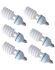 6 قطع 135w موفرة للطاقة LED E27 مصابيح إضاءة 5500K التصوير الفوتوغرافي مصباح النهار