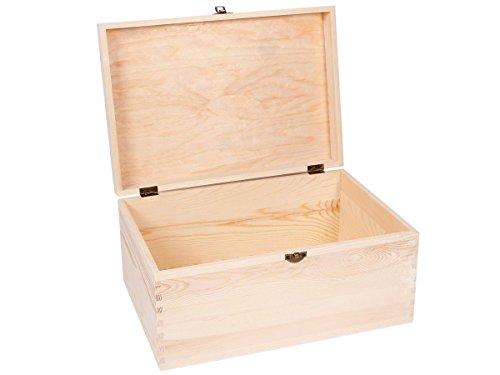 Alsino Boîte avec Couvercle Coffret en Bois Brut de qualité supérieure à thé Tea Box Caisse Valisette, Choisir:Bois Box 06