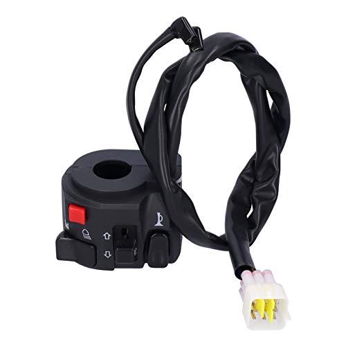 SALALIS Controlador de luz del Manillar, Interruptor de Apagado del Manillar, Llave de Encendido de Arranque para Scooter para Motocicletas