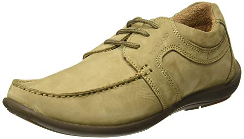 Woodland Men's Khaki Leather Sneakers-6 UK/India (40 EU) (GC 0592108CMA)