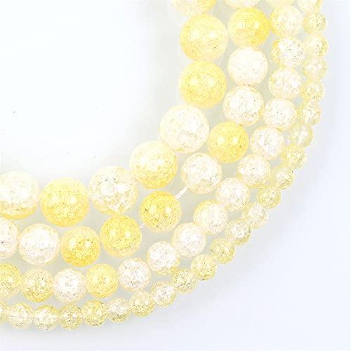 Multicolor Cracked Crystal Piedra Natural Ronda Perlas Sueltas Joyería Hacer Diy Pulsera Pendiente Para La costura 6-12 Mm H7136 12mm aproximadamente 30Pcs