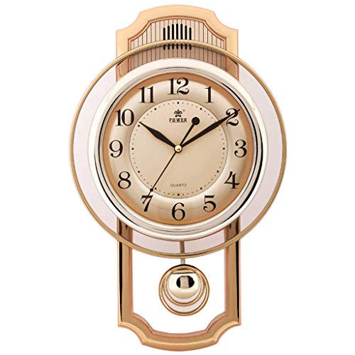 Balançoire Horloge Murale Technologie Dynamique Décoration 16 Types De Musique Temps Horloge Murale Salon Calme Créatif Pendule Horloge