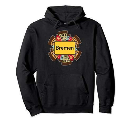 """Ortsschild \""""Bremen\"""" - Lustiges Stadt-Design Pullover Hoodie"""