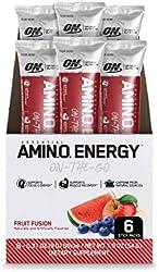 Optimum Nutrition Amino Energy - Pre Workout with Green Tea, BCAA, Amino Acids, Keto Friendly, Green